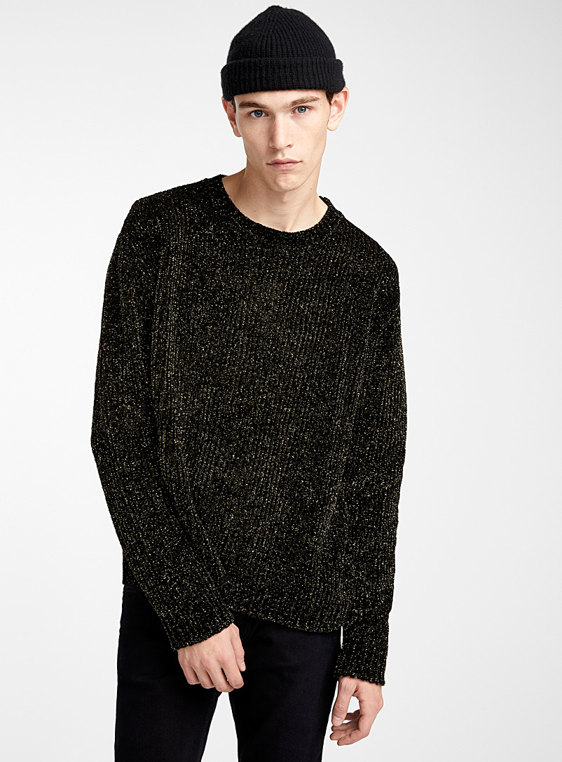 gold-accent-chenille-sweater