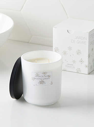 Frosted garden candle
