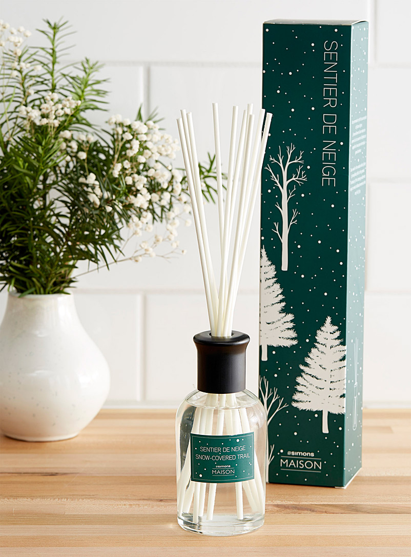 Simons Maison Green Snow-covered trail diffuser set