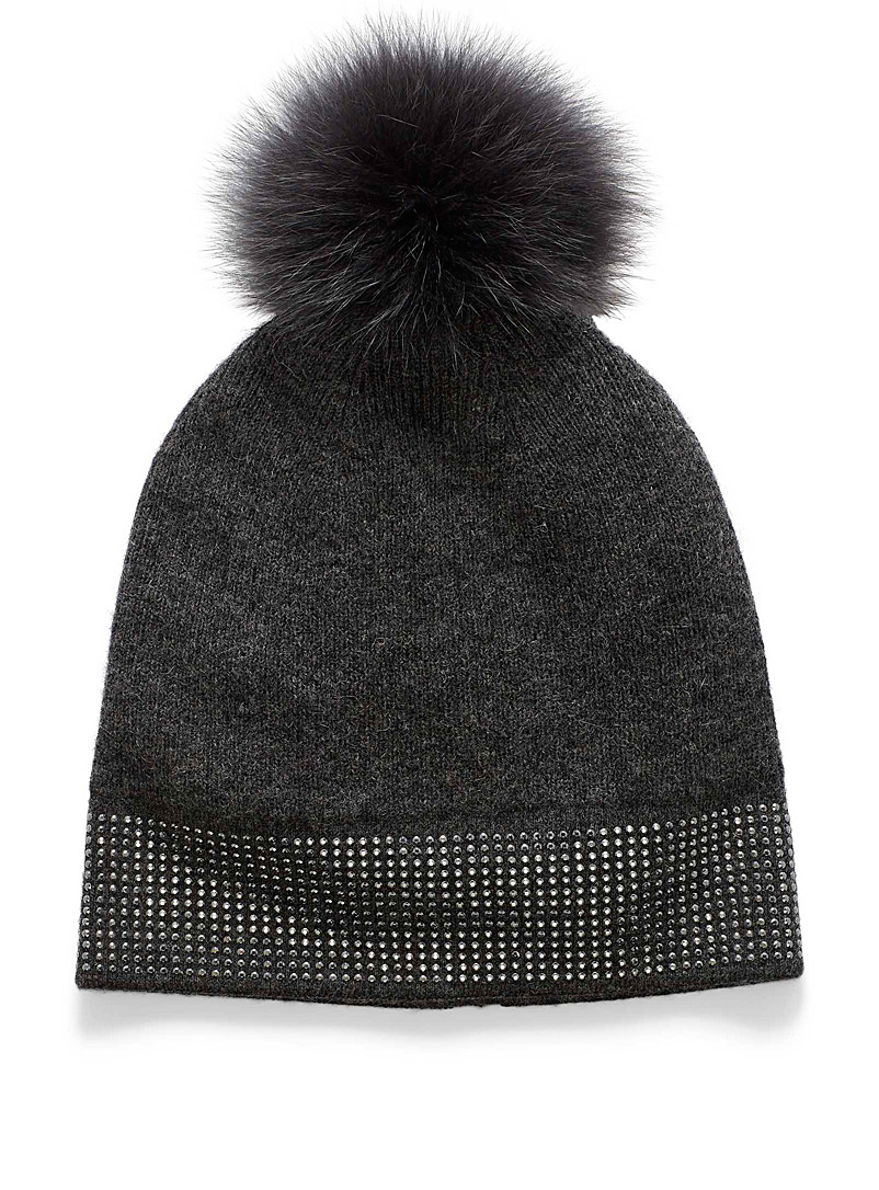 Metallic shine tuque - Tuques & Berets - Grey