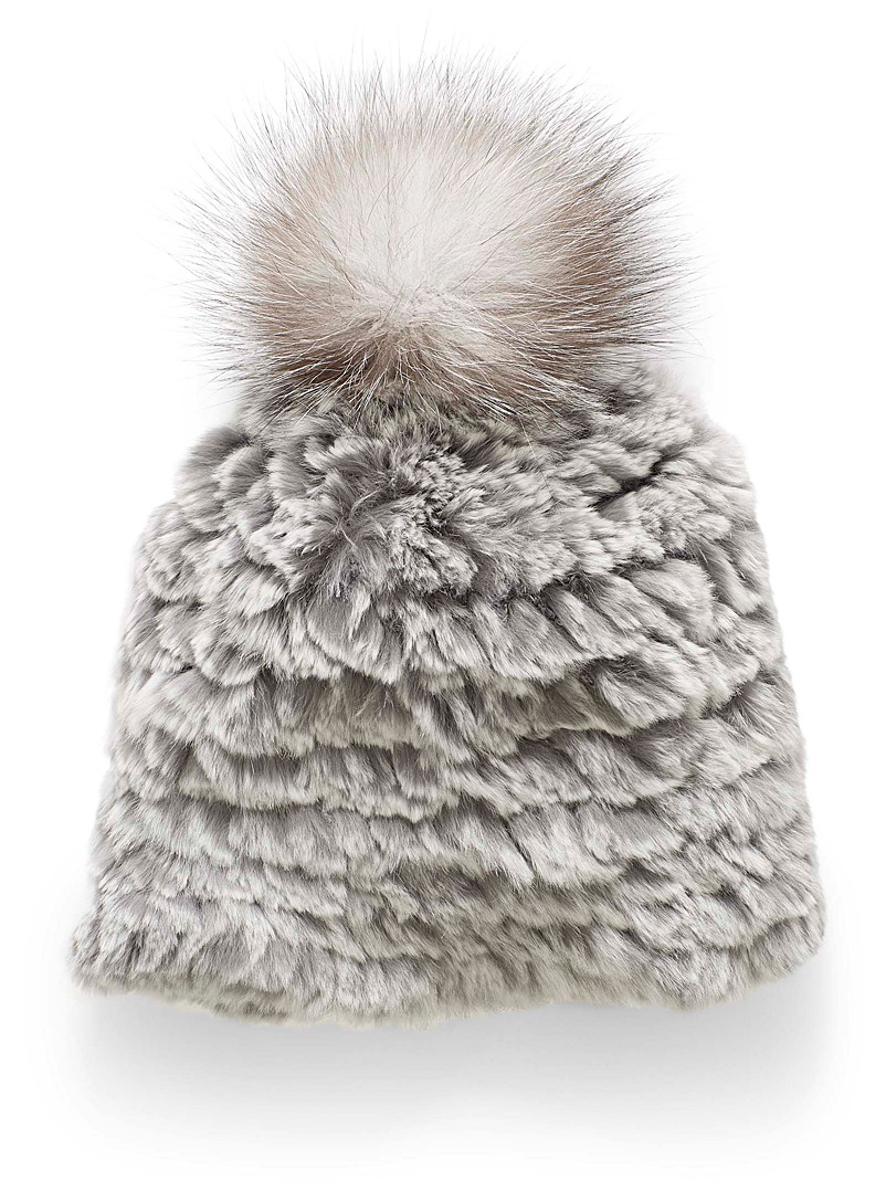 All-over fur tuque - Tuques & Berets - Silver