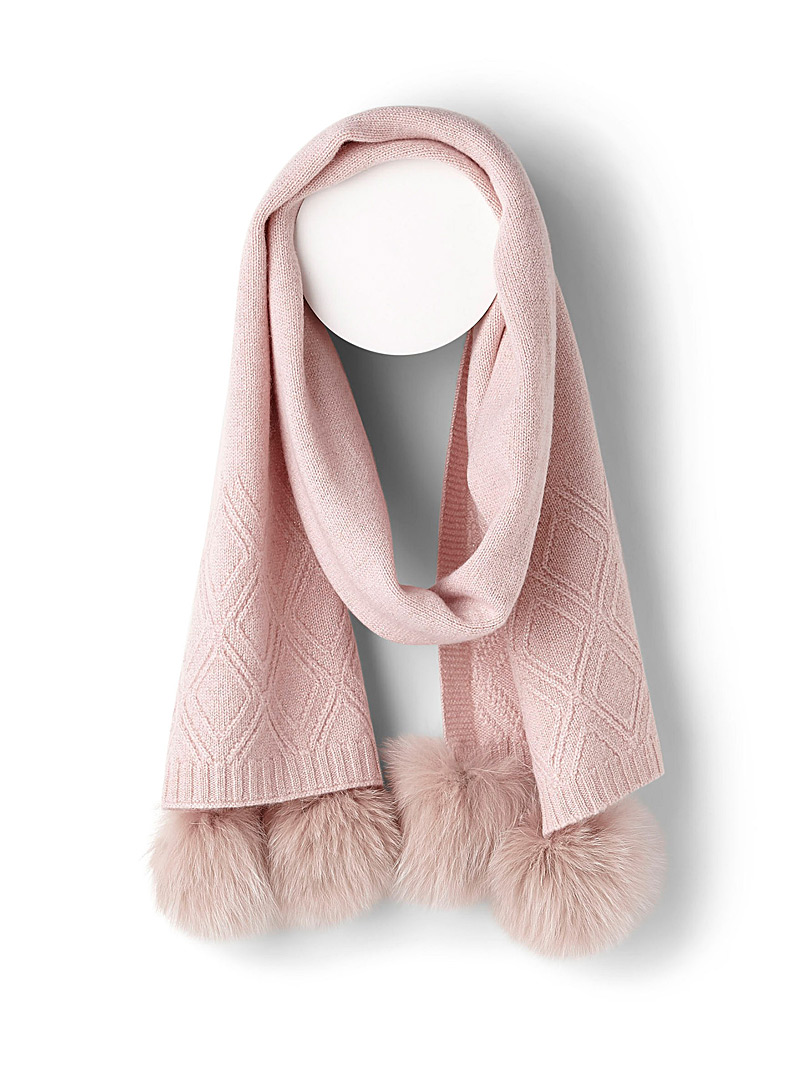 Metallic knit scarf - Winter Scarves - Pink