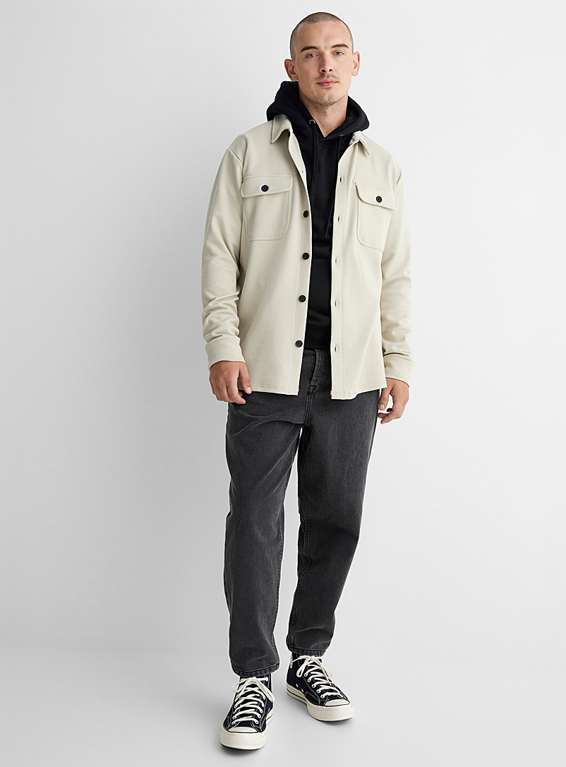 Only & Sons Cream Beige Utility overshirt for men