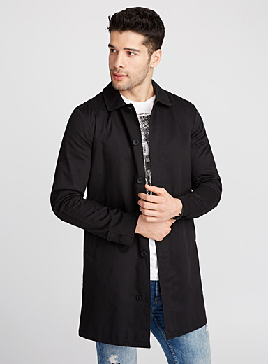 Shirt collar trench coat