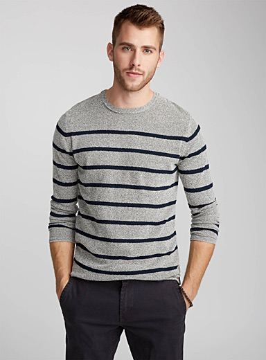 Striped terry sweater