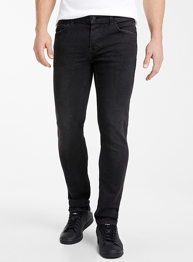 Only & Sons Black Faded black jean  Slim fit for men