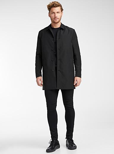 Only & Sons: Le trench monochrome Noir pour homme