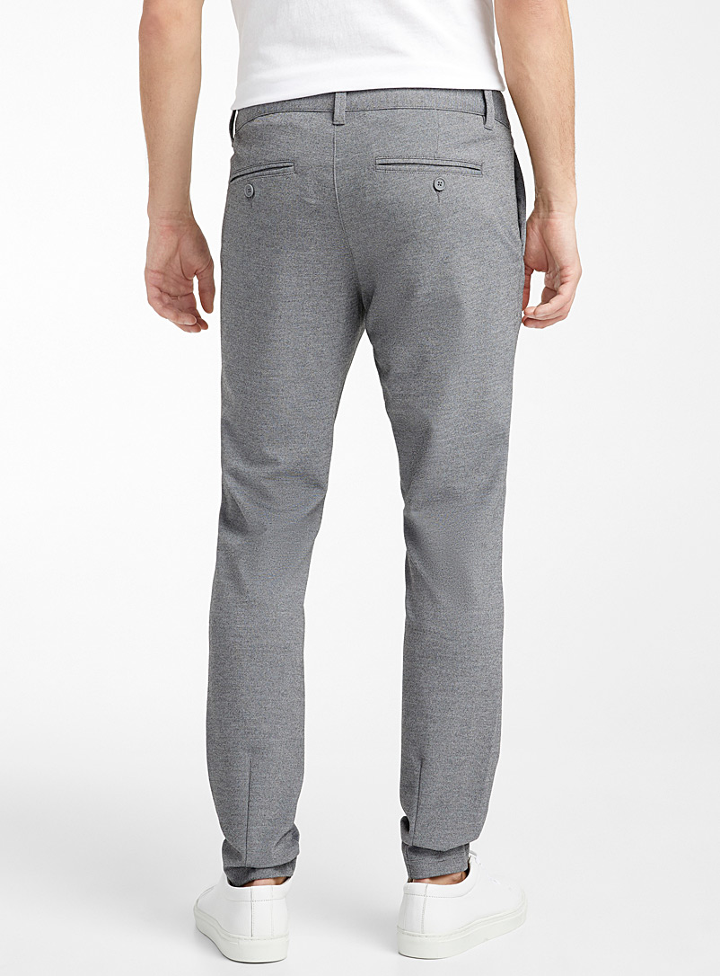 Only & Sons Grey Heathered engineered jersey pant Slim fit for men