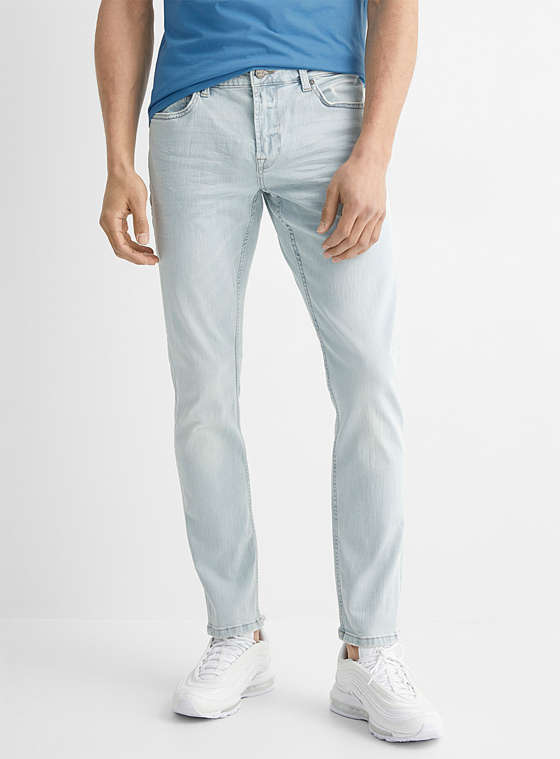 Only & Sons Baby Blue Light blue bleached jean Slim fit for men