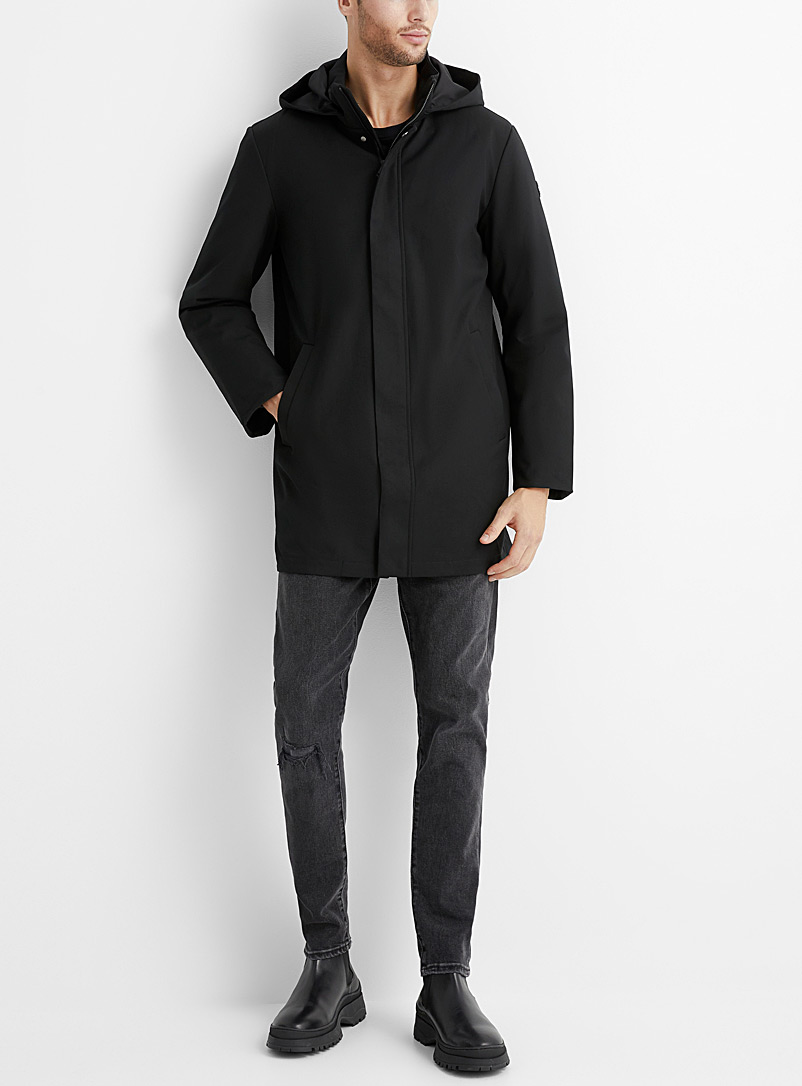 Only & Sons Black 2-in-1 technical parka for men