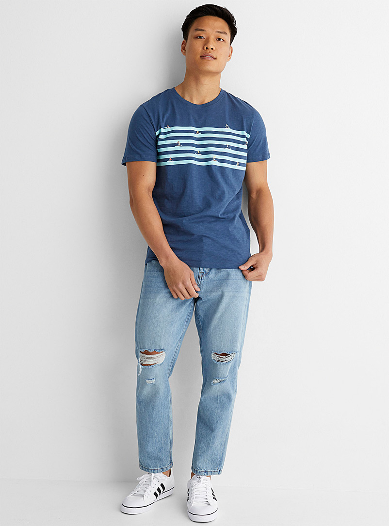 Only & Sons Blue Avi Beam ankle jean Tapered fit for men