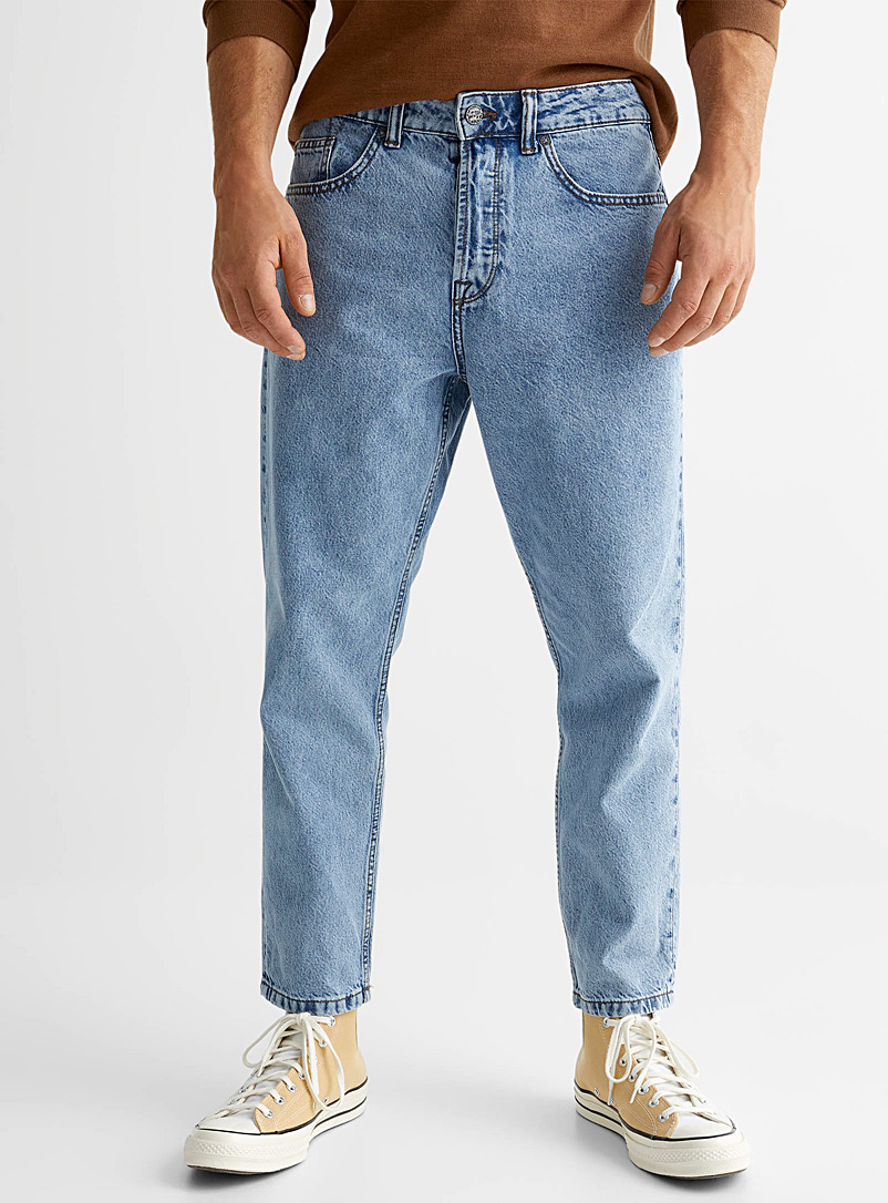 Only & Sons Blue Avi Beam faded-blue jean Tapered fit for men