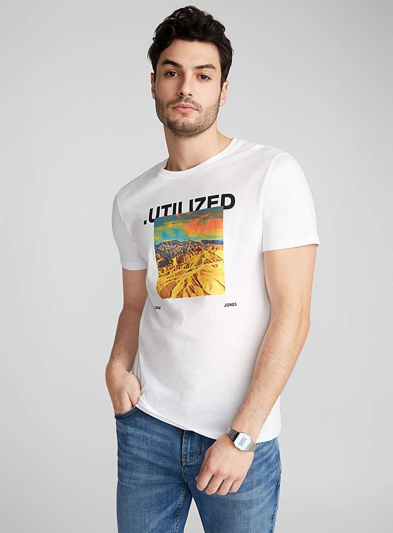 Conquest to the top T-shirt - Prints - White
