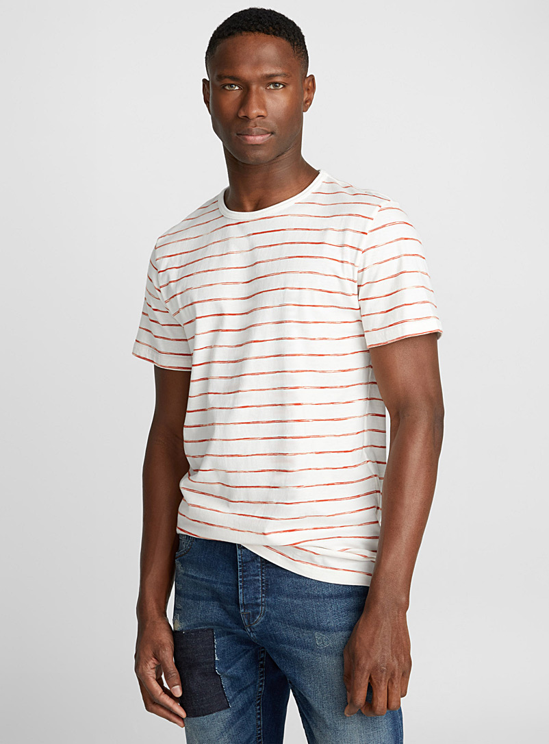 Traced stripe T-shirt - Prints - Copper