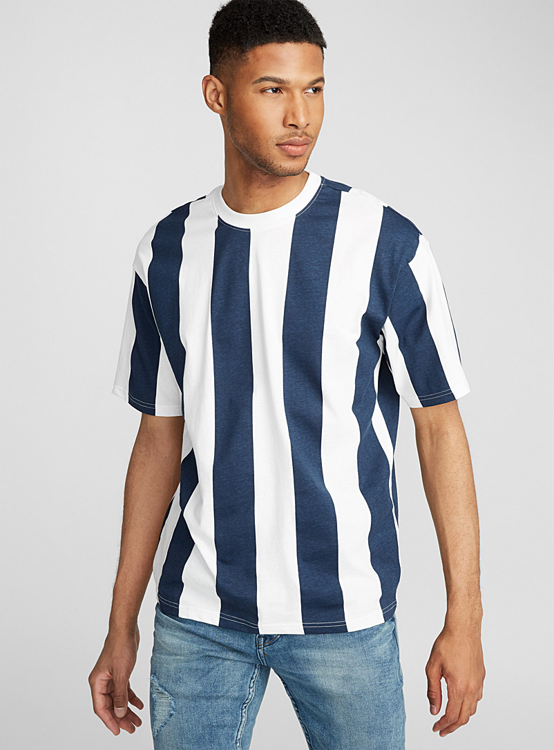 Vertical stripe T-shirt - Prints - Marine Blue