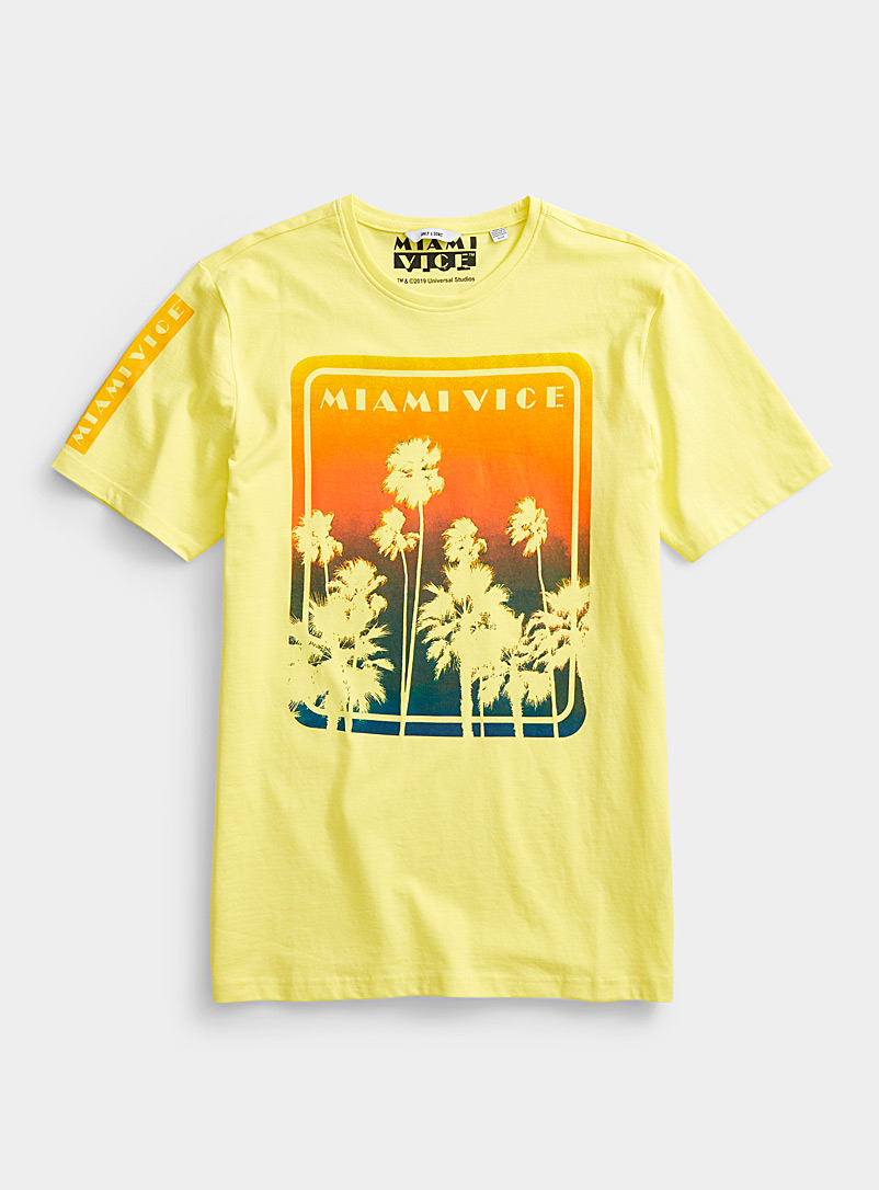 Only & Sons Golden Yellow Miami Vice T-shirt for men