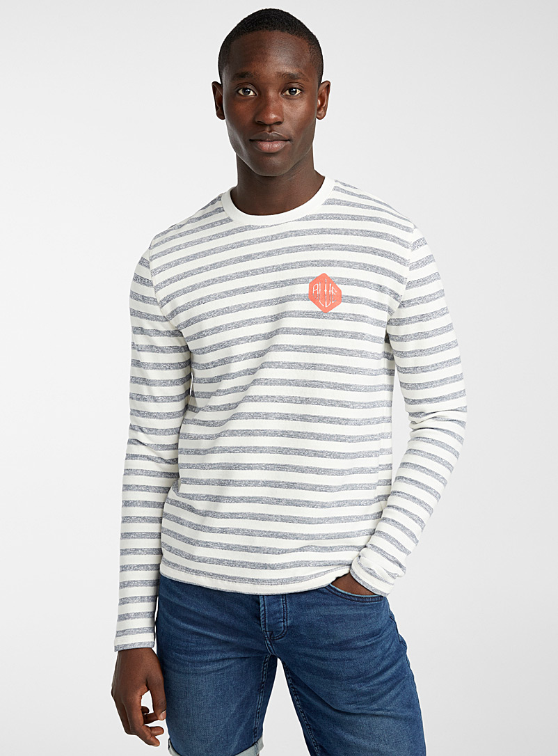 Only & Sons Marine Blue Seaside stripe sweatshirt for men