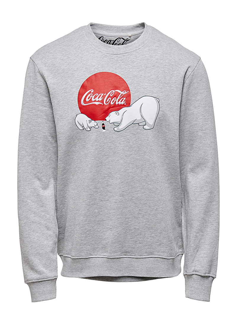 Jack & Jones Light Grey Coca-Cola sweatshirt for men