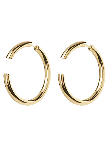 Multi-style gold earrings