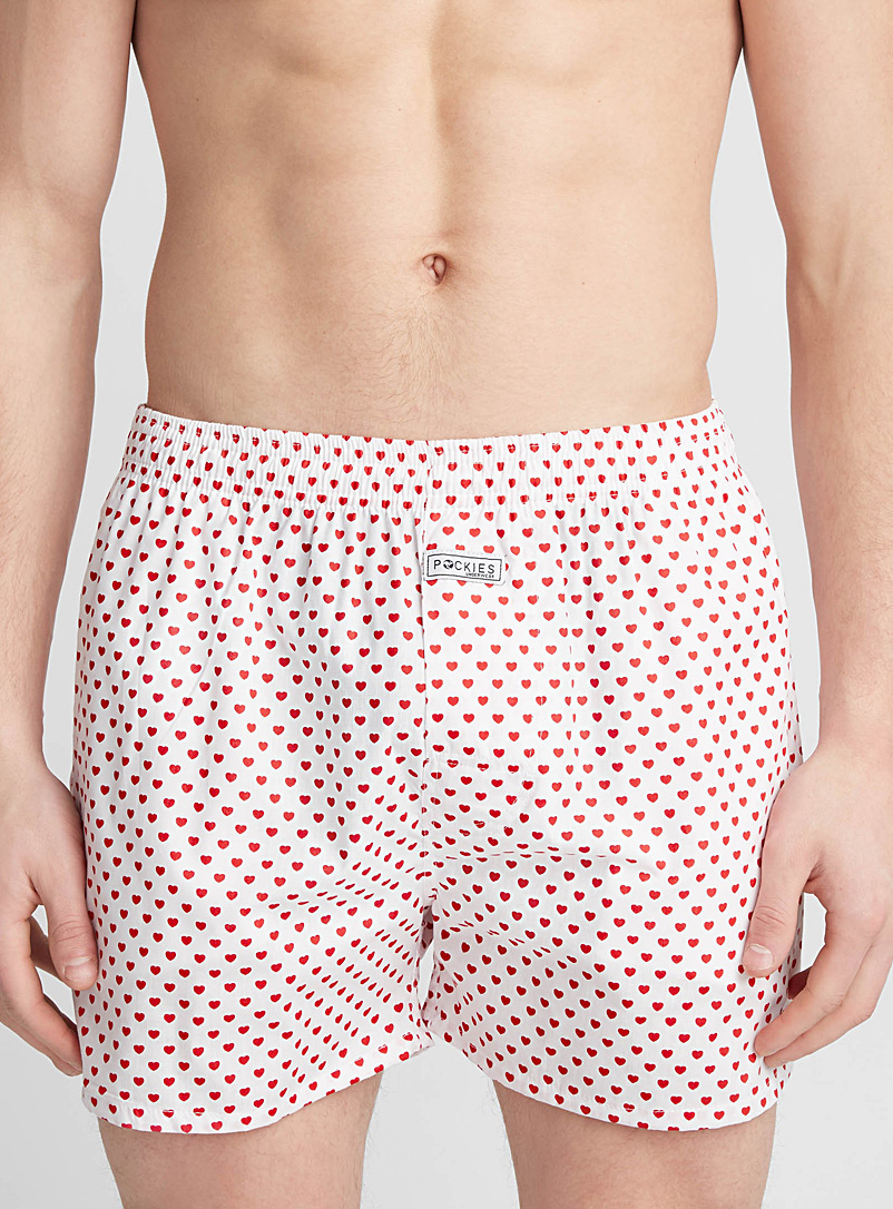 Small hearts loose boxer - Boxers - White