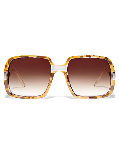 Spitfire Light Brown Rising with the Sun square sunglasses for women