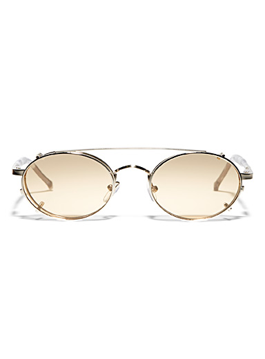 Spitfire Silver Spectrum oval sunglasses for women