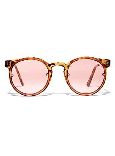 Spitfire Fawn Post Punk round sunglasses for women