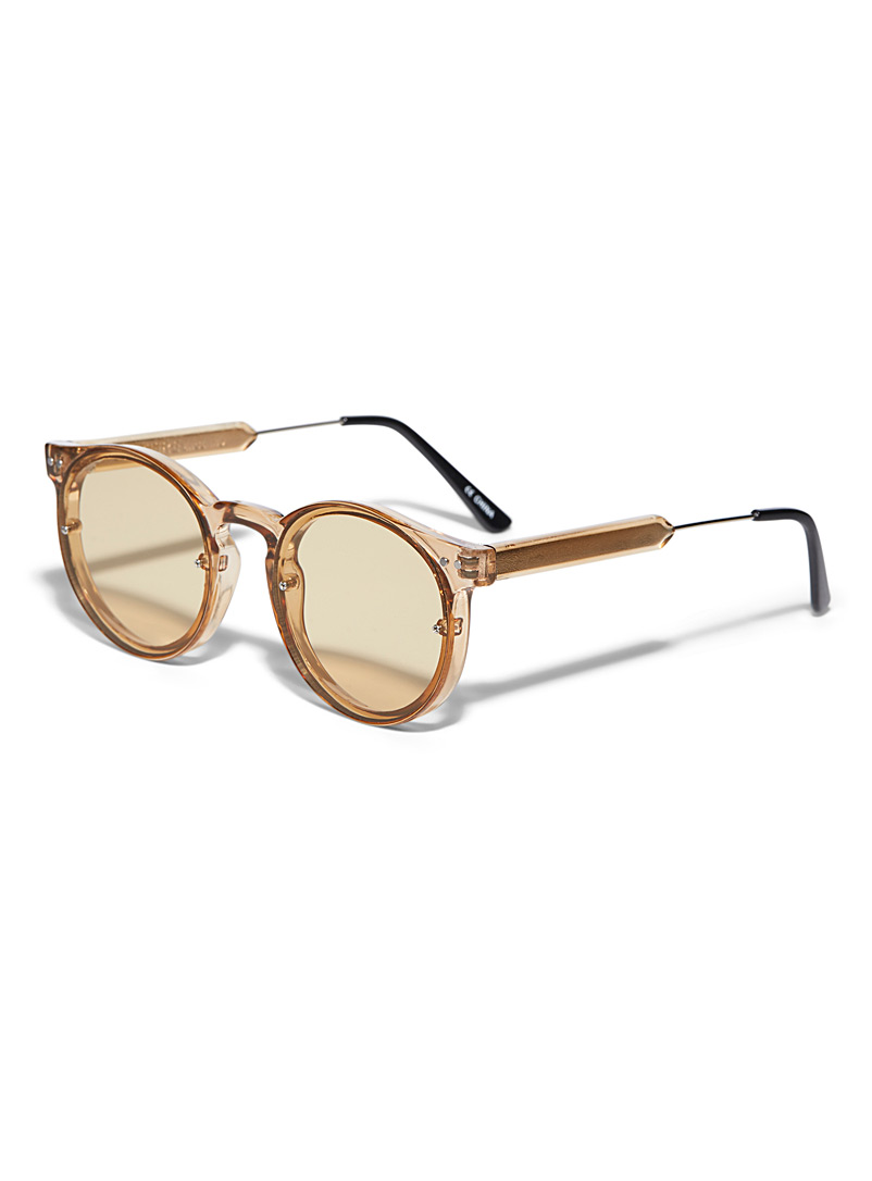 Post Punk round sunglasses - Designer - Honey