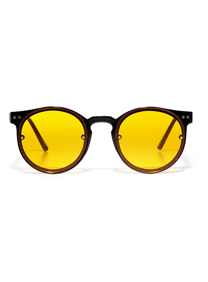Post Punk round sunglasses - Designer - Charcoal