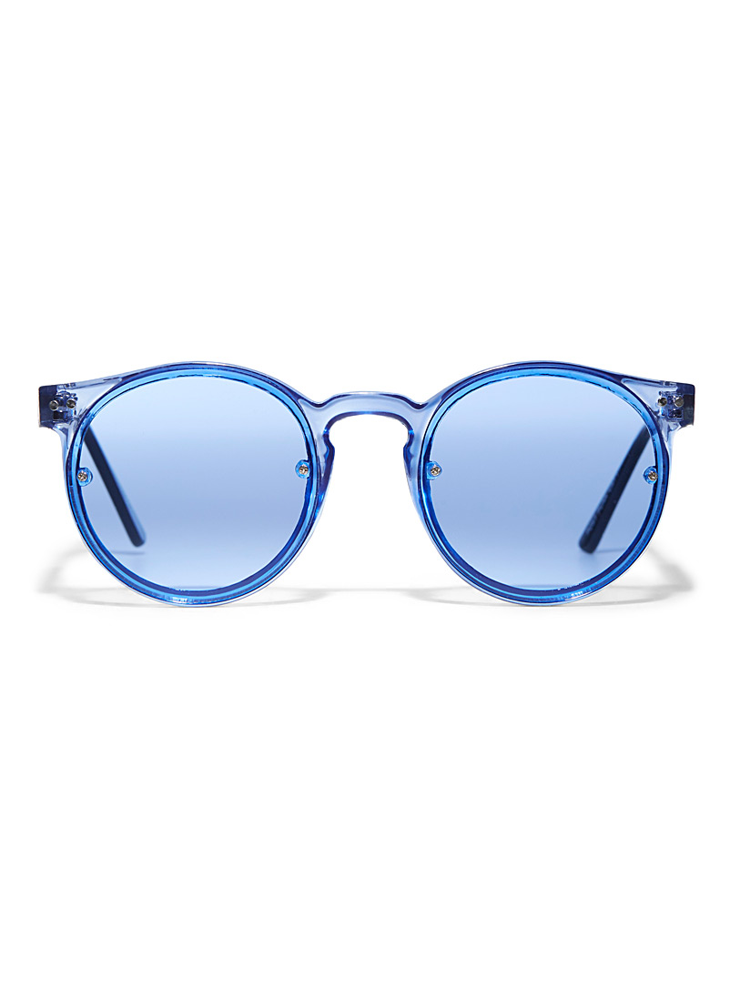 Post Punk round sunglasses - Designer - Baby Blue