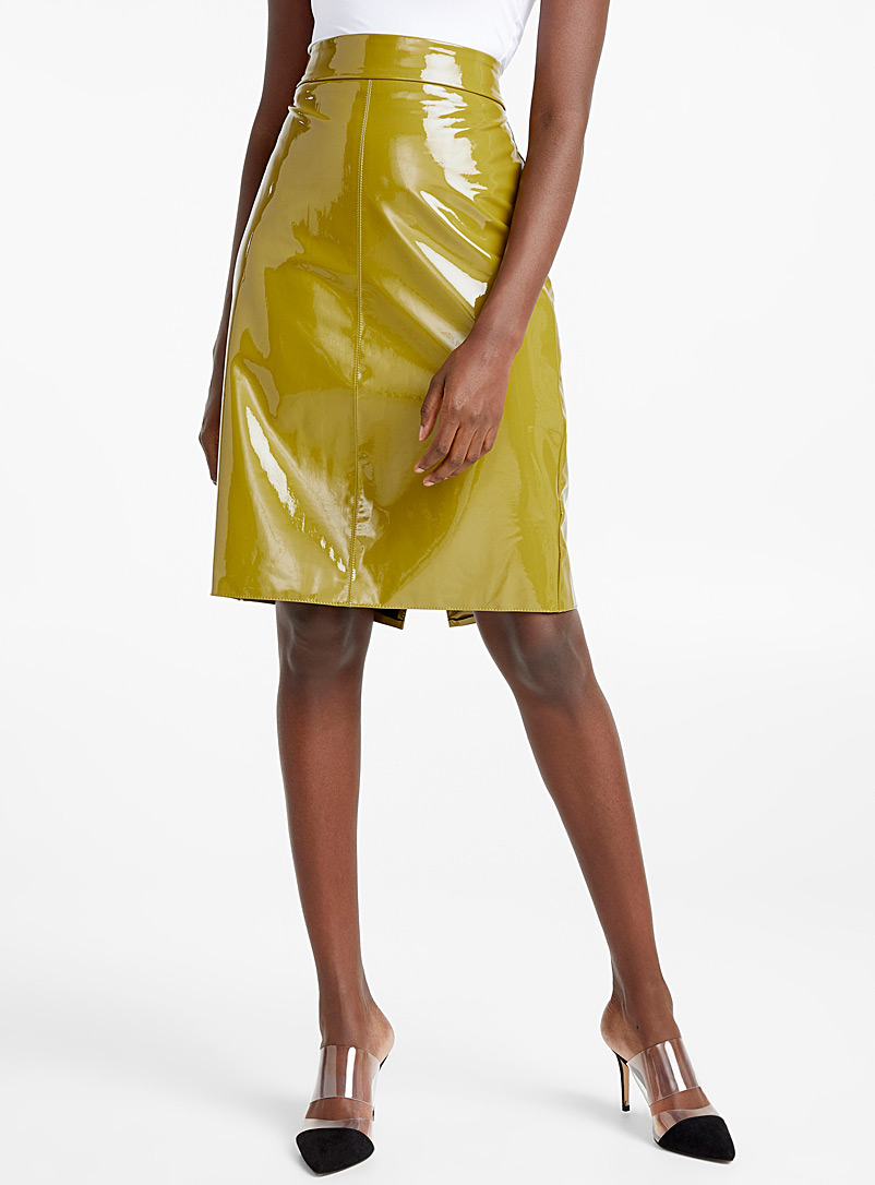 olive-lacquered-skirt