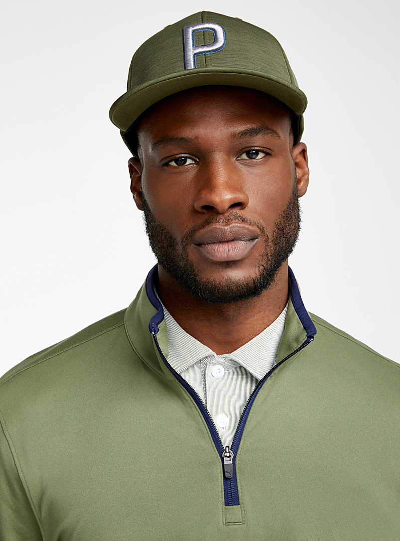 Puma Golf Khaki Signature initial cap for men