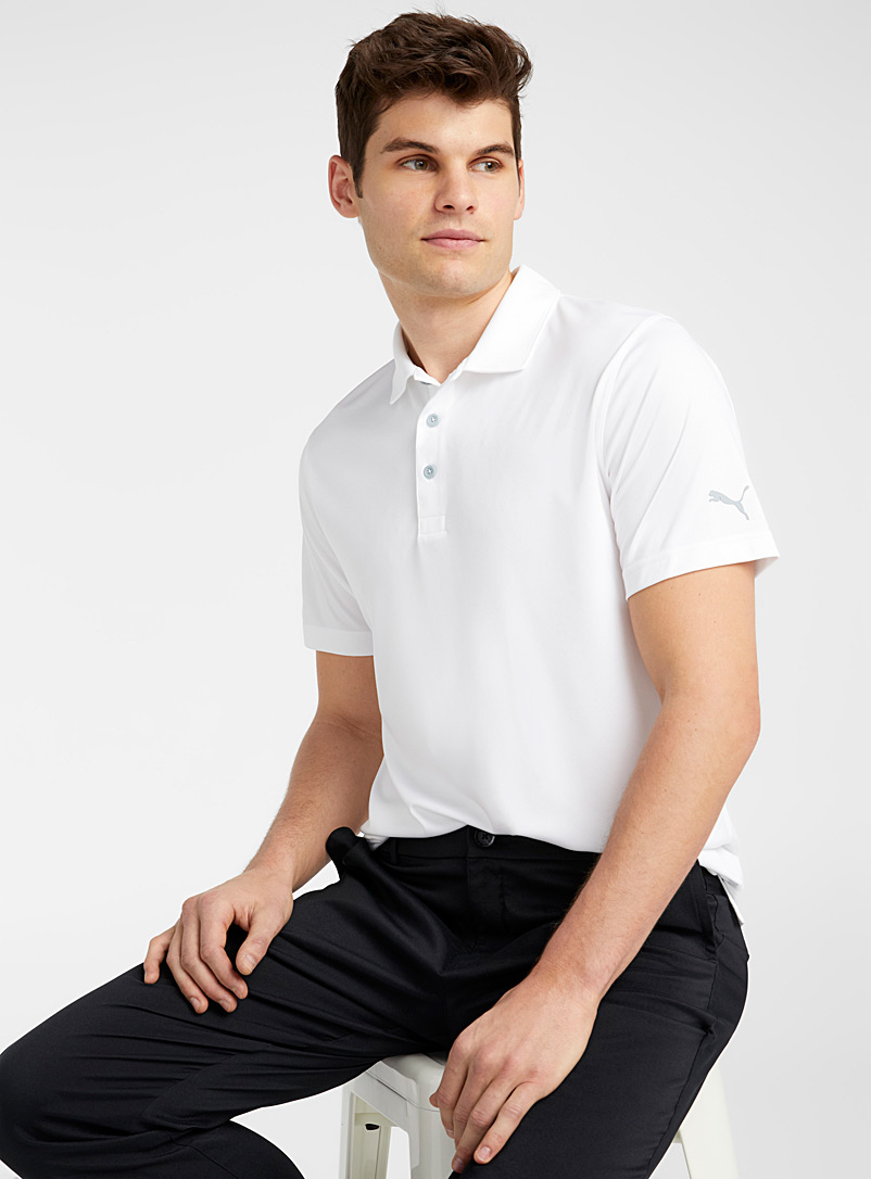 Puma Golf White Rotation essential golf polo for men