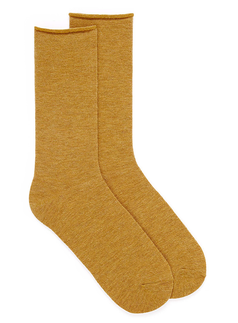 Monochrome merino socks - Socks - Medium Yellow