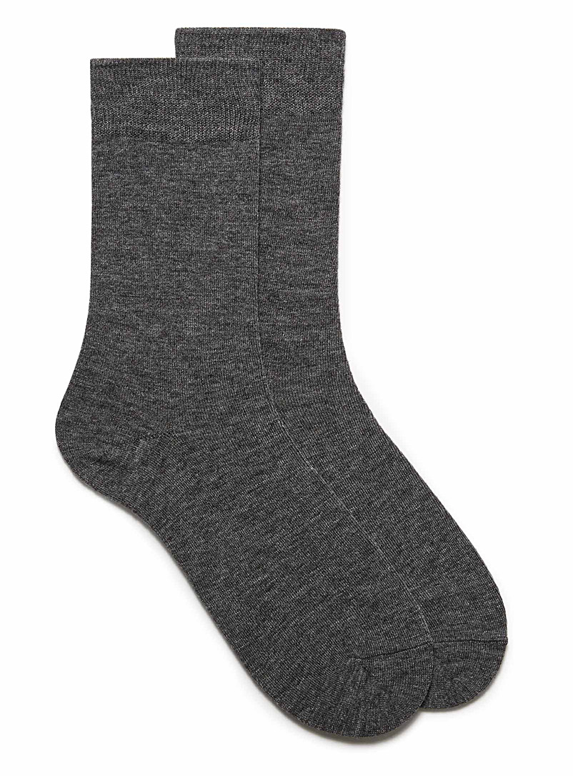 Merino wool socks - Dressy socks - Charcoal