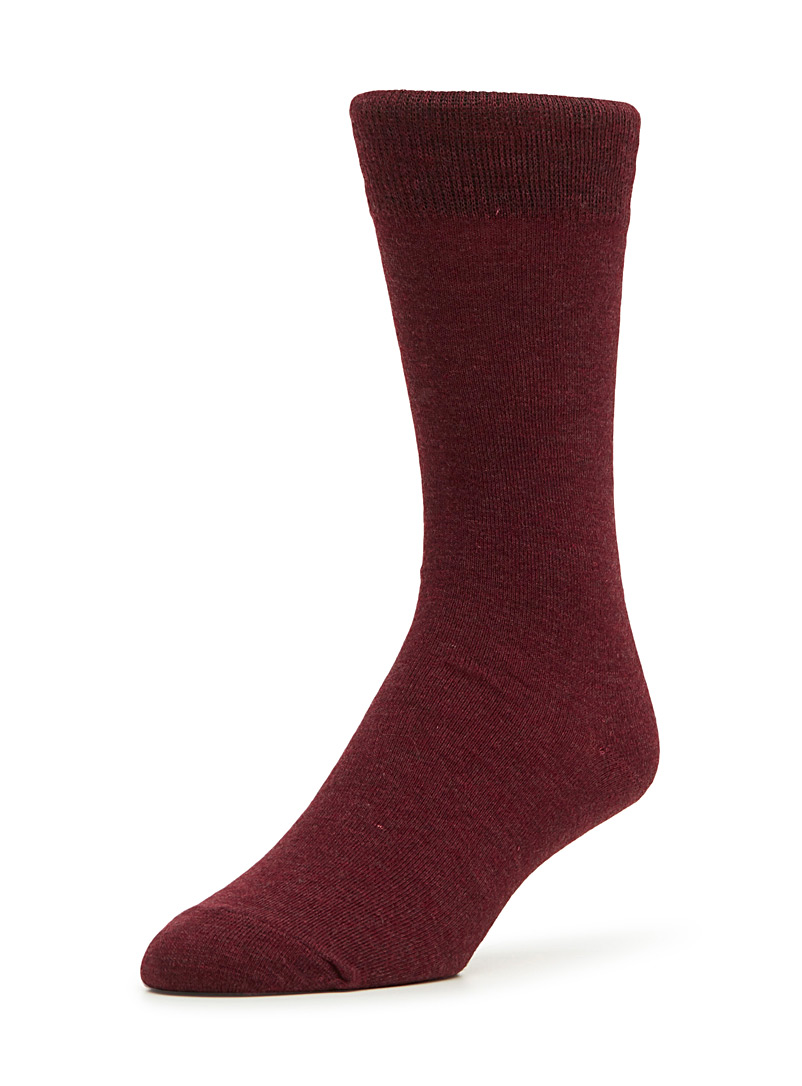 Le 31 Cherry Red Essential merino wool socks for men