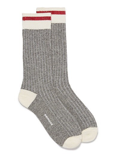 Wool-blend worker socks