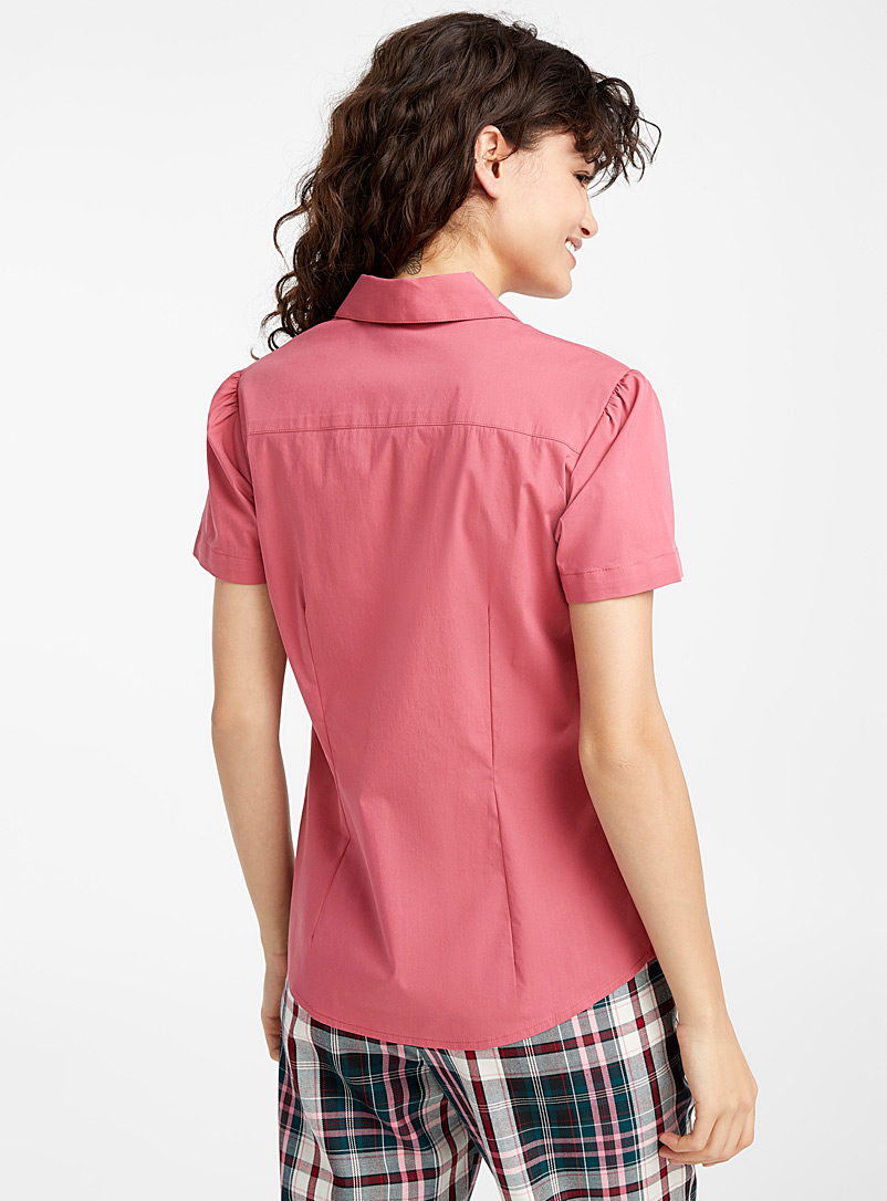 Colourful basic shirt - Shirts - Cherry Red