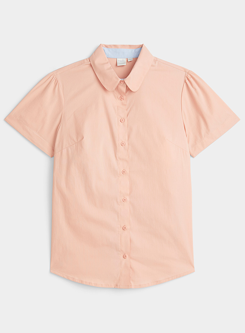 Twik Dusky Pink Colourful basic shirt for women