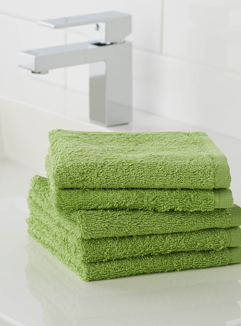 Extra-value colour facecloths  Set of 5 - Daily Use - Kelly Green