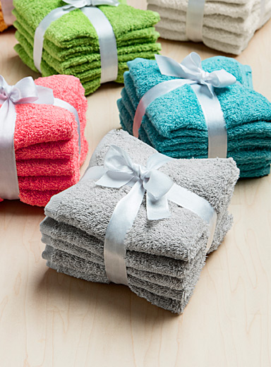 Extra-value colour facecloths  Set of 5