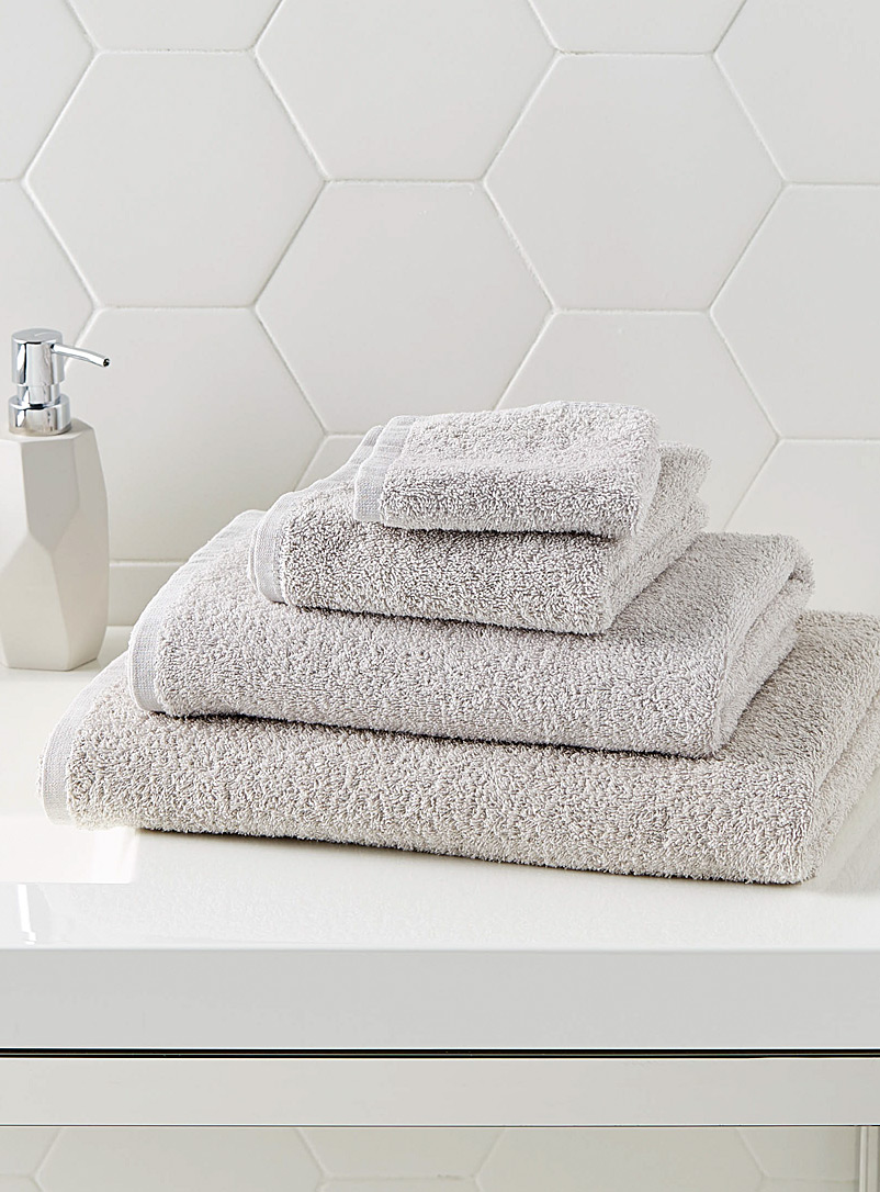 Extra-value colour towels - Solid - Light Grey