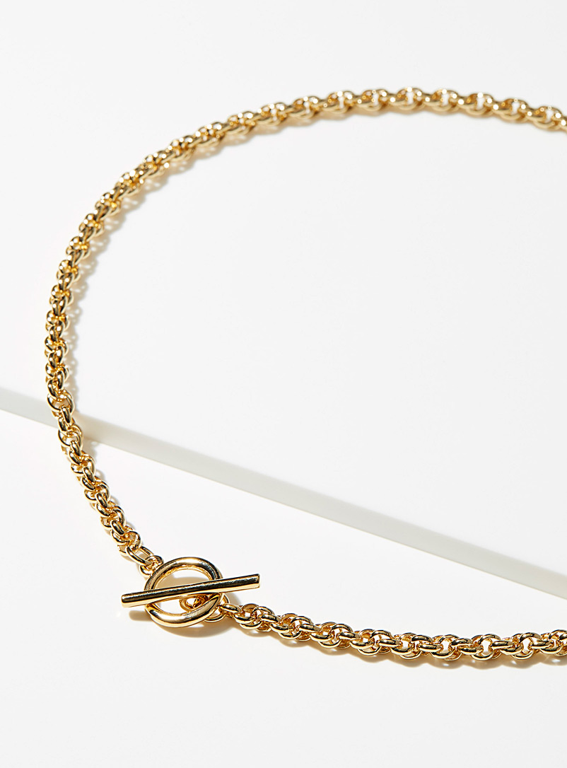 Orelia Gold Cord link necklace for women