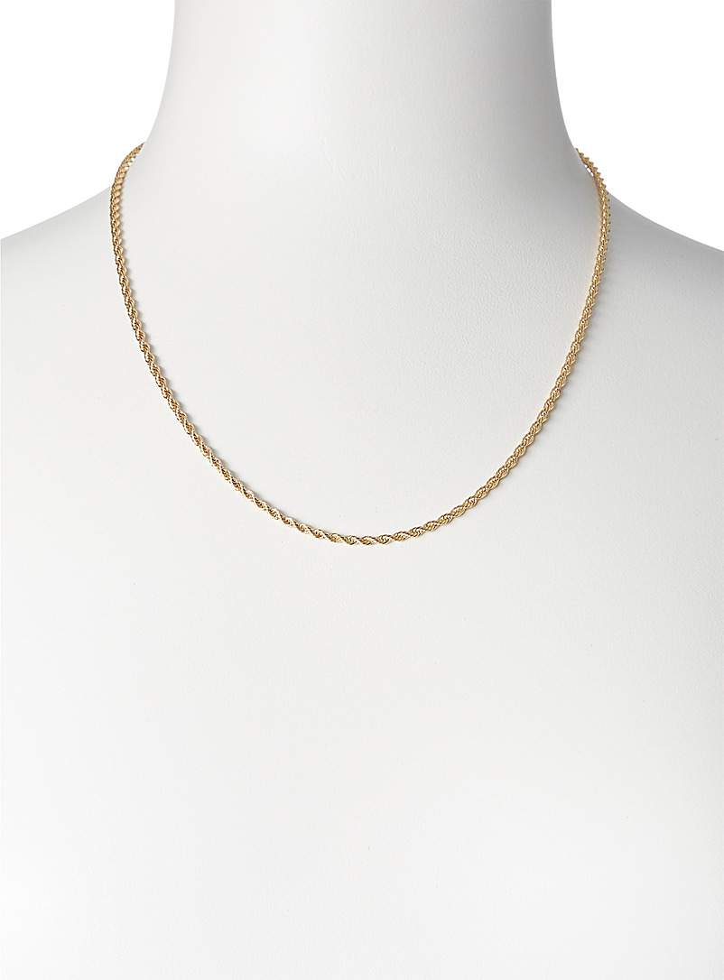 Orelia Gold Twisted rope chain for women