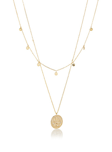 Hamsa medallion necklace