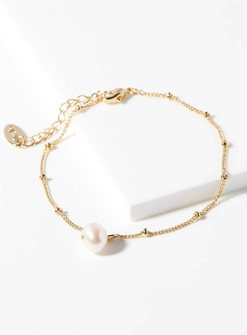 Orelia Assorted gold Freshwater pearl bracelet for women