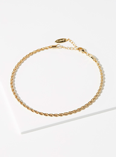 Orelia Gold  Cord-link anklet for women