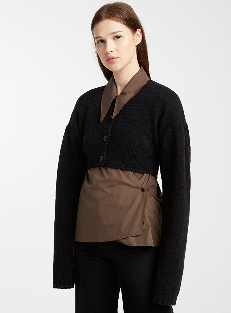 Cropped cardigan - Lemaire - Black