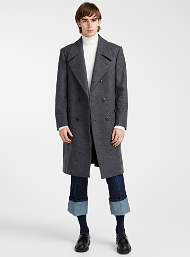 Wrapover coat