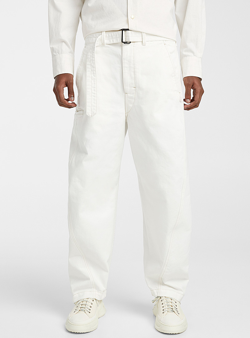 Lemaire White Twisted jean for men